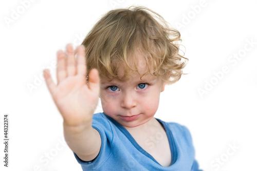 Leinwanddruck Bild Kind sagt nein