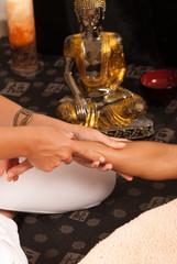 Massaging an arm