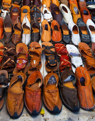 Shoes for sale on a tunisian street