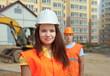 Portrait of two builders
