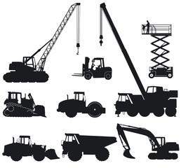 Baumaschinen und Baufahrzeuge