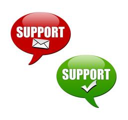 Support Sprechblasen: online & offline