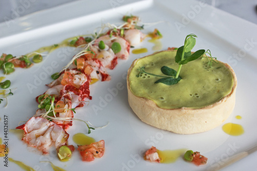 Lobster and Green Pea Tart