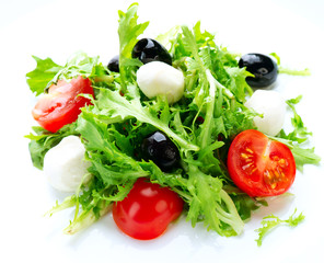 Salad with Mozzarella Cheese