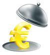 Euro on silver platter concept