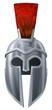 Spartan helmet illustration