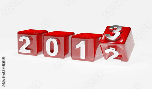 New year 2013 3d cubes