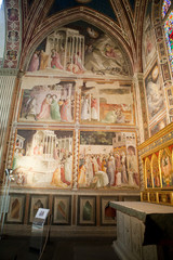 Florence -  Santa Croce: Frescoes in the Baroncelli Chapel
