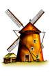 windmill wind retro illustration art vintage