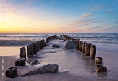 Beautiful sunset beach during summer