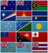 Flags of all Oceanian countries