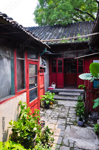 view inside a courtyard in a beijing hutong