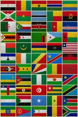 Flags of all African countries