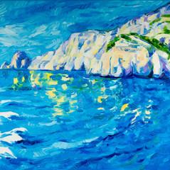 Ocean and cliffs