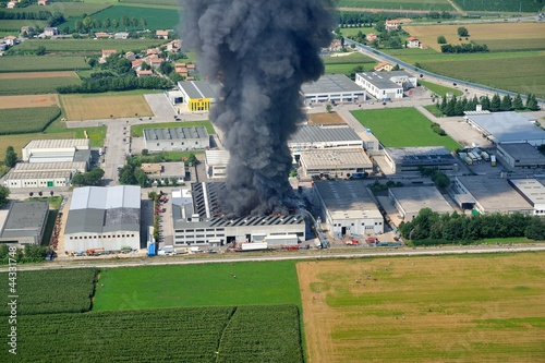 disaster Fire destroyed a factory - 44331748
