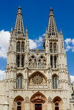 Principal Facade of Burgos Gothic Cathedral. Spain