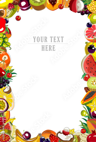 Background made of 35 colorful fruits