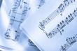 Music score on paper