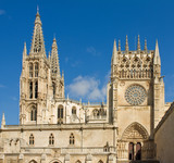 Sarmental Facade of Burgos Gothic Cathedral. Spain