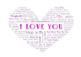 i love  you tagcloud