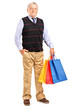 Mature man with shopping bags