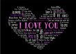 i love you tagcloud