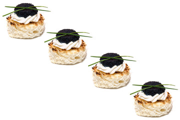 Background With Caviar Canapés