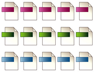 Digital File Format Icons with copy space
