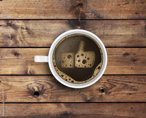 Papiers peints Salle de cafe coffee with foam in like form