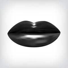 Kussmund schwarz