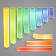 Color satin decorative advertising ribbons set