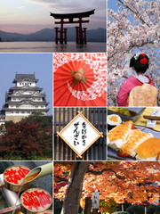 Landmark collage of Japan