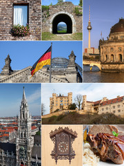 Landmark Collage - Germany