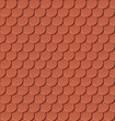 Clay roof tiles seamless vector pattern.