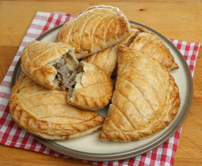 Cornish Pasties on Plate