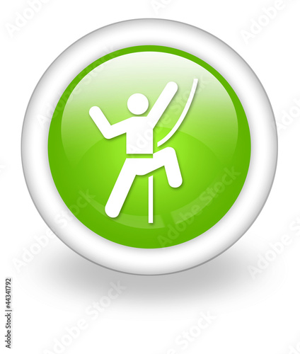 "Light Green Icon ""Rock Climbing"""