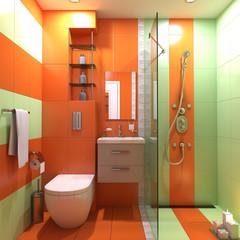 bathroom wc hand-basin interior 3d render scene