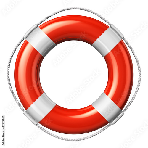Red lifesaver belt