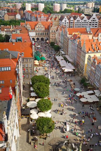 Keuken foto achterwand Antwerpen Architecture of old town in Gdansk, Poland