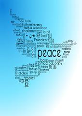 peace tagcloud friedenstaube