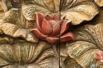 flower carving decorated