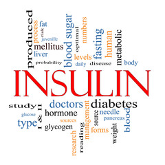 Insulin Word Cloud Concept