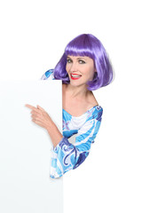 Young with purple wig