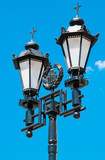 Street lamp with the religious touch in Moscow, Russia