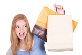 Woman with her shopping bags