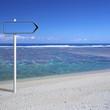 panneau sur plage