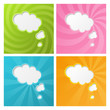Set of clouds color backgrounds