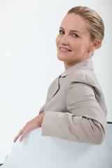 Portrait of a pretty mature businesswoman