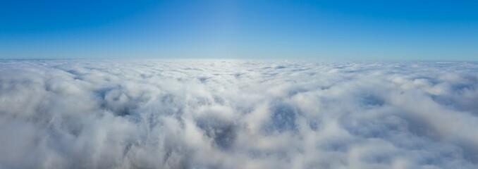 blue sky panorama higher densy clouds