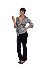 African call-center worker